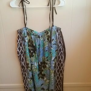 TOMMY BAHAMA FLORAL PRINT COVER UP. SIZE M/L